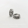 77508 Бусина - рондель Сваровски Crystal (цвет - античное серебро) 8х3 мм ()