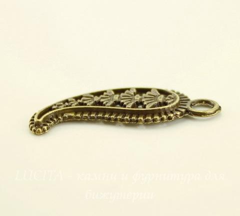 """Подвеска """"Чили"""" (цвет - античная бронза) 27х11 мм, 5 штук"""
