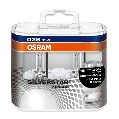 Лампа ксенон D2S (4150К) Osram Xenarc Silverstar