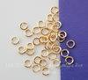 Комплект колечек одинарных 18К (цвет - золото) 3,2х0,6 мм, примерно 300 штук