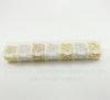 Набор кримпов - зажимных бусин (примерно 4770 шт) в контейнере  (цвет - серебро+золото) 2-4 мм