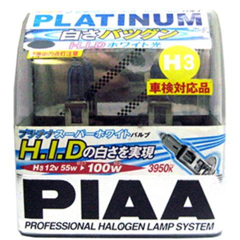 Галогенные лампы PIAA H3 CB1E (3950K) Platinum Super White