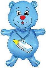 Медвежонок мальчик (синий) F 36