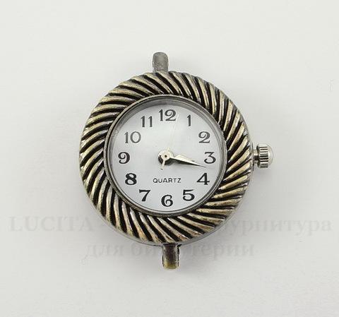 """Основа для часов """"Плетенка"""" (цвет - античная бронза) 31х24х8 мм"""