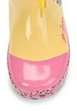 Резиновые сапоги Винкс (Winx) утепленные на шнурках для девочек, цвет желтый розовый. Изображение 7 из 8.