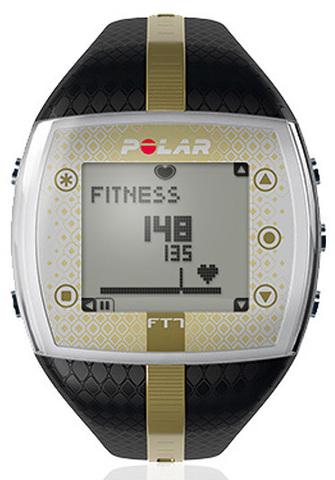 Купить Пульсометр для фитнеса Polar FT7F Black/Gold по доступной цене