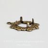 Сеттинг - основа - подвеска для камеи или кабошона 9 мм (оксид латуни)