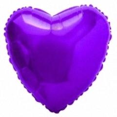F Сердце, Фиолетовый, 18