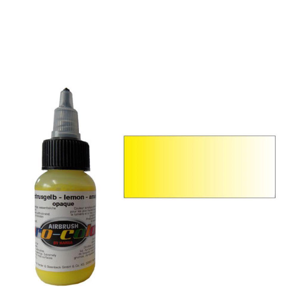 60001 Краска для аэрографии Pro-Color Lemon (ЛИМОННЫЙ) 30мл. укрывистый