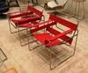 кресло wassily armchair ( красная кожа)