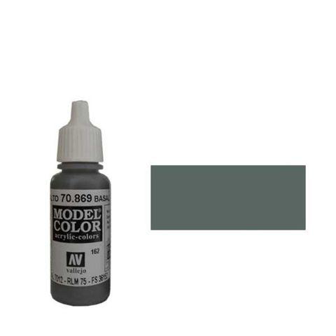 162. Краска Model Color Базальт Серый 869 (Basalt Grey) укрывистый, 17мл