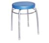 Табурет Элит ТЭЛ 1 (голубой) на 4-х опорах с ободом, круглое сиденье, винилискожа, Ника, г. Ижевск