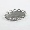 Сеттинг - основа для камеи или кабошона 18х13 мм (оксид серебра) ()