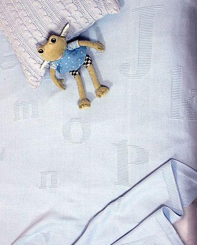 Элитный плед детский Lux 1169 голубой от Luxberry