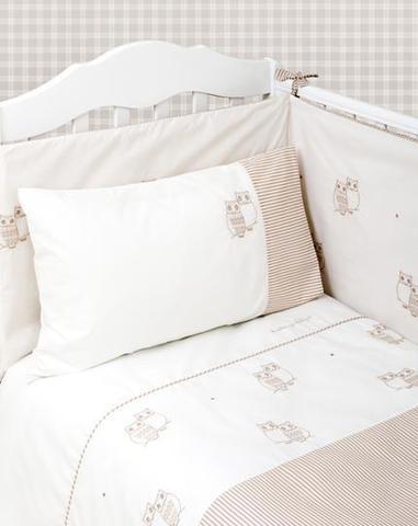 Бампер для детской кроватки 195х45 Luxberry Совята