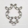 Винтажный декоративный элемент - штамп 31х24 мм (оксид серебра)