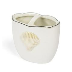 Стакан для зубных щёток Kassatex Mare Shells Pearl
