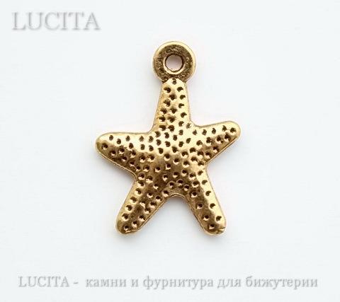 "Подвеска ""Морская звезда"" 16х12 мм (цвет - античное золото) ()"