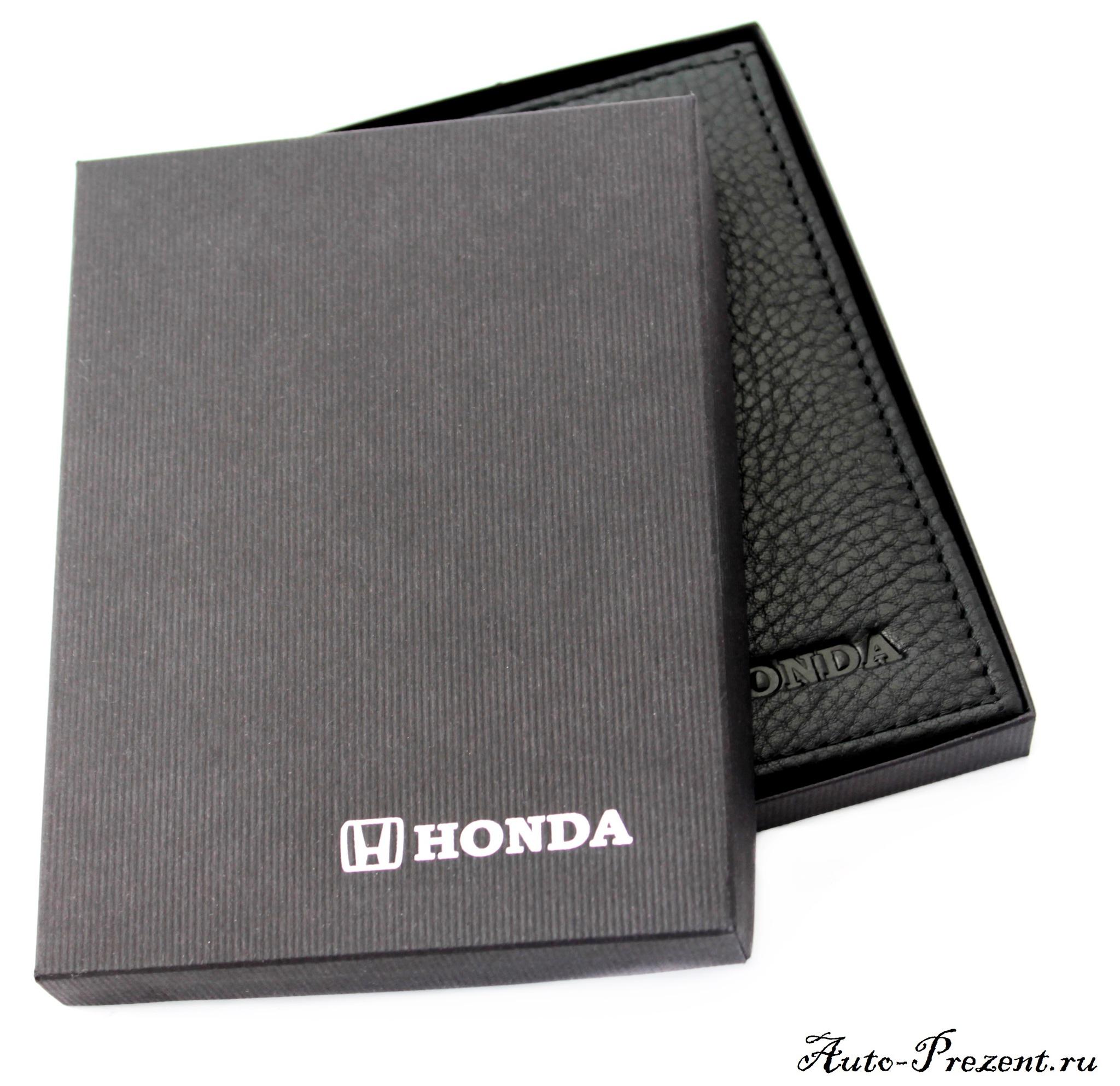 Портмоне для автодокументов из натуральной кожи с логотипом HONDA