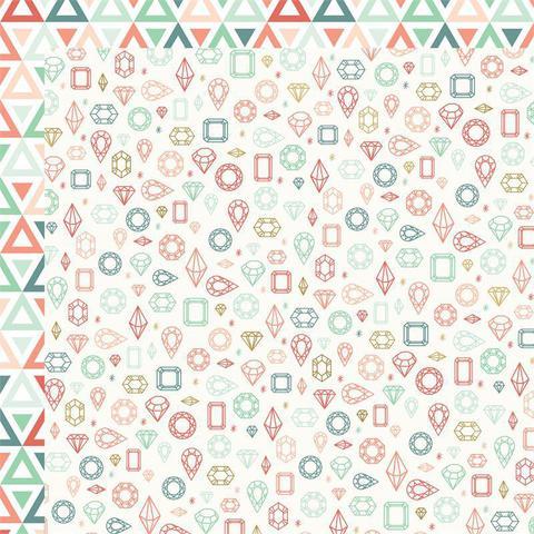 "Лист двусторонней бумаги  30 х30 см из коллекции  ""On Trend"" by MME"