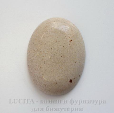 Кабошон Яшма Пейзажная 40х30х8 мм ()