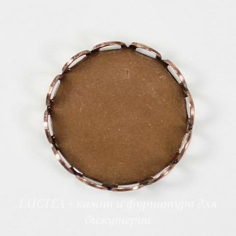 Сеттинг - основа для камеи или кабошона 15 мм (оксид меди)