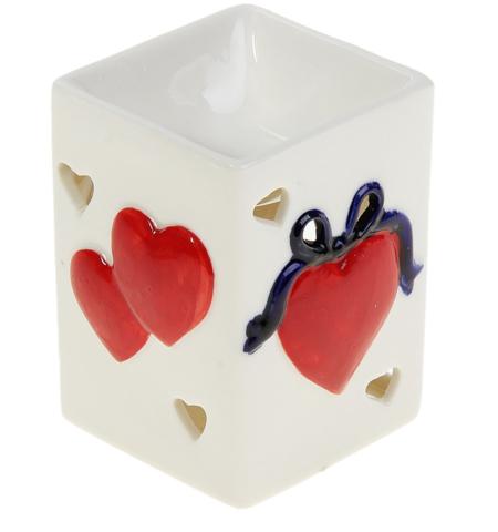 Аромалампа Два сердца прямоугольная