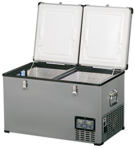 Компрессорный автохолодильник Indel B TB 65DD Steel (65л)