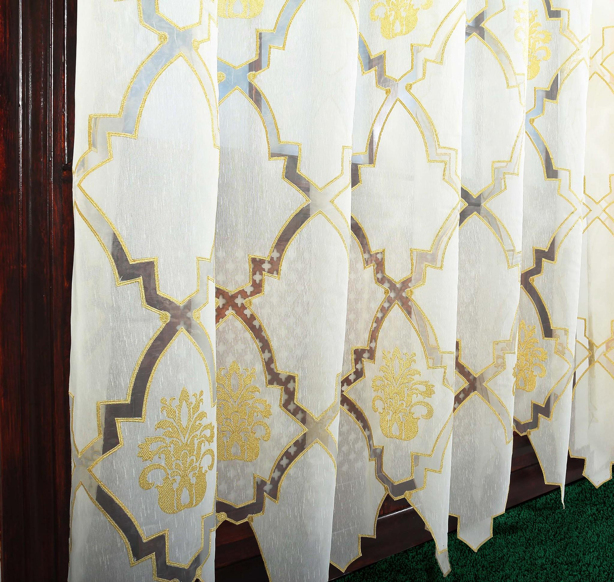 Штора - Лён с вышивкой (Дамаск)
