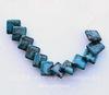"""Комплект из 12 бусин Яшма (тониров) """"Ромб"""" (цвет - синий) 13х13х4 мм"""