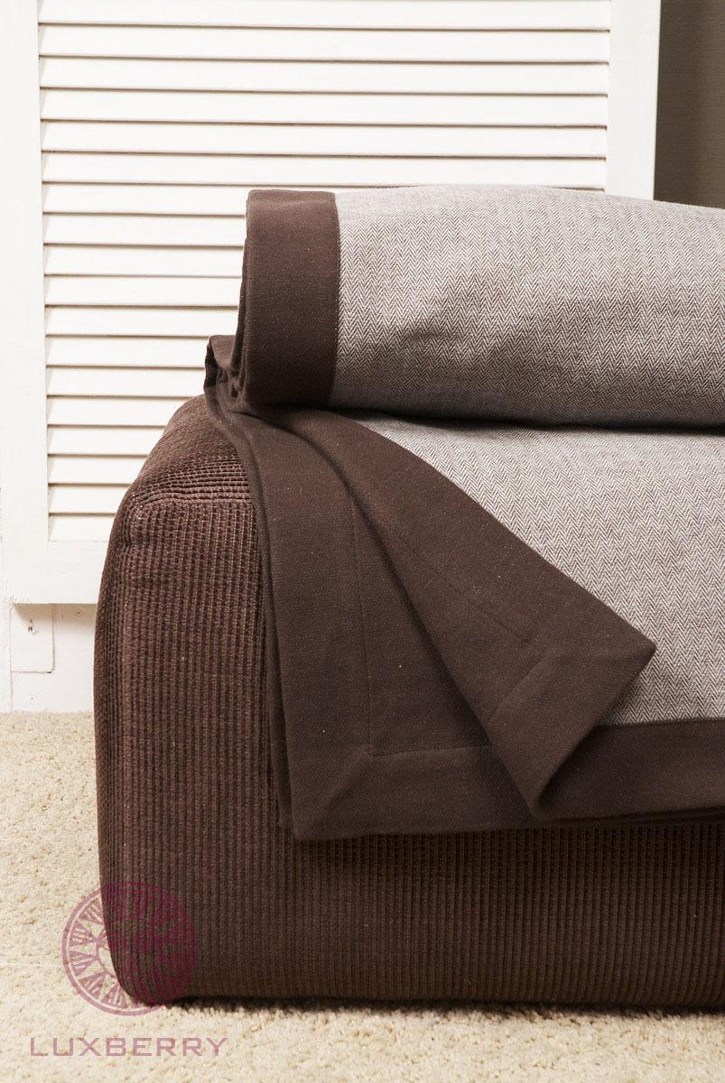 Пледы Плед-покрывало 220х240 Luxberry Lux 2233 коричневый pled-pokrivalo-lux-2233-luxberry-portugaliya.jpg