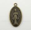 "Подвеска ""Дева Мария"" (цвет - античная бронза) 48х26 мм"