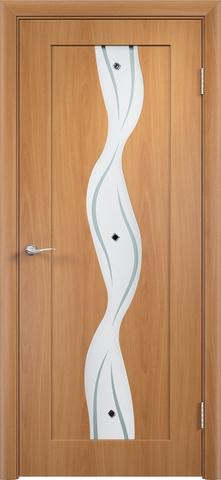 Дверь Верда Вираж, цвет миланский орех, остекленная