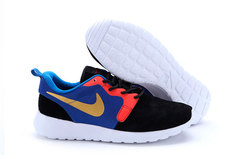 Кроссовки Мужские Nike Roshe Run Material Black Blue Red