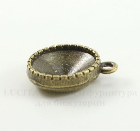 Сеттинг - основа - подвеска для страза 14 мм (цвет - античная бронза)