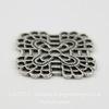 Винтажный декоративный элемент - филигрань 19 мм (оксид серебра) ()