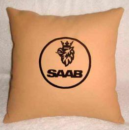 Подушка автомобильная кожаная SAAB