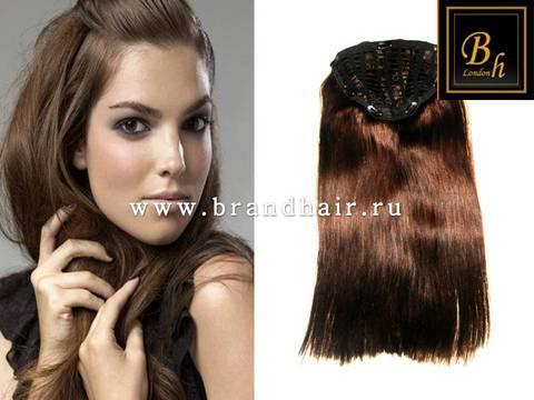 Набор волос Easy Hair-Оттенок 4A-шоколад прямые волосы-60 CM