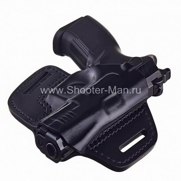 Кобура кожаная для пистолета Grand Power Т 10 и Т 12 поясная ( модель № 19 ) Стич Профи