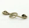 """Подвеска """"Скрипичный ключ с черепом"""" (цвет - античная бронза) 41х15 мм"""