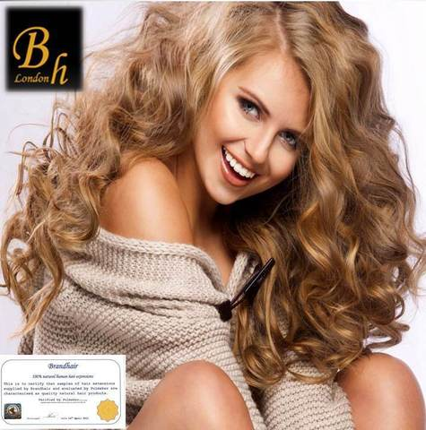 Вьющиеся волосы оттенок 27A-Светлый золотистый русый-52 см