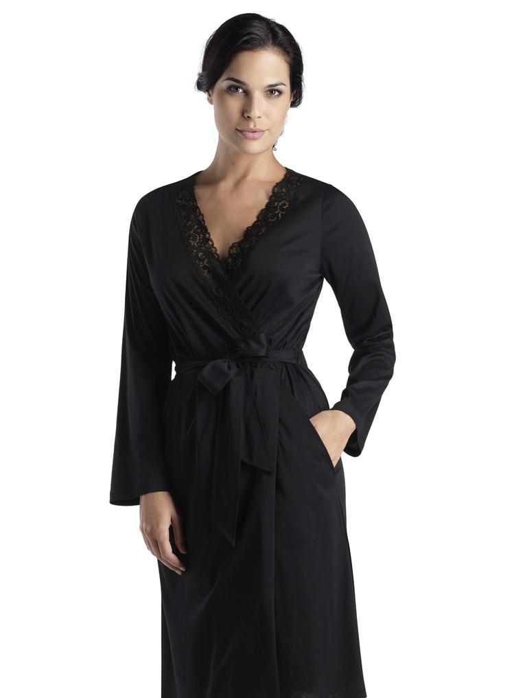 Черный женский халат HANRO (Женские халаты)