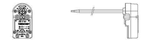 Термостат для водонагревателя Ariston (Аристон) TAS 300 RF 72/80 TW (черн.прямоуг.с флажком) - CU4825, 3412074, 691692, 691694, merl-014877