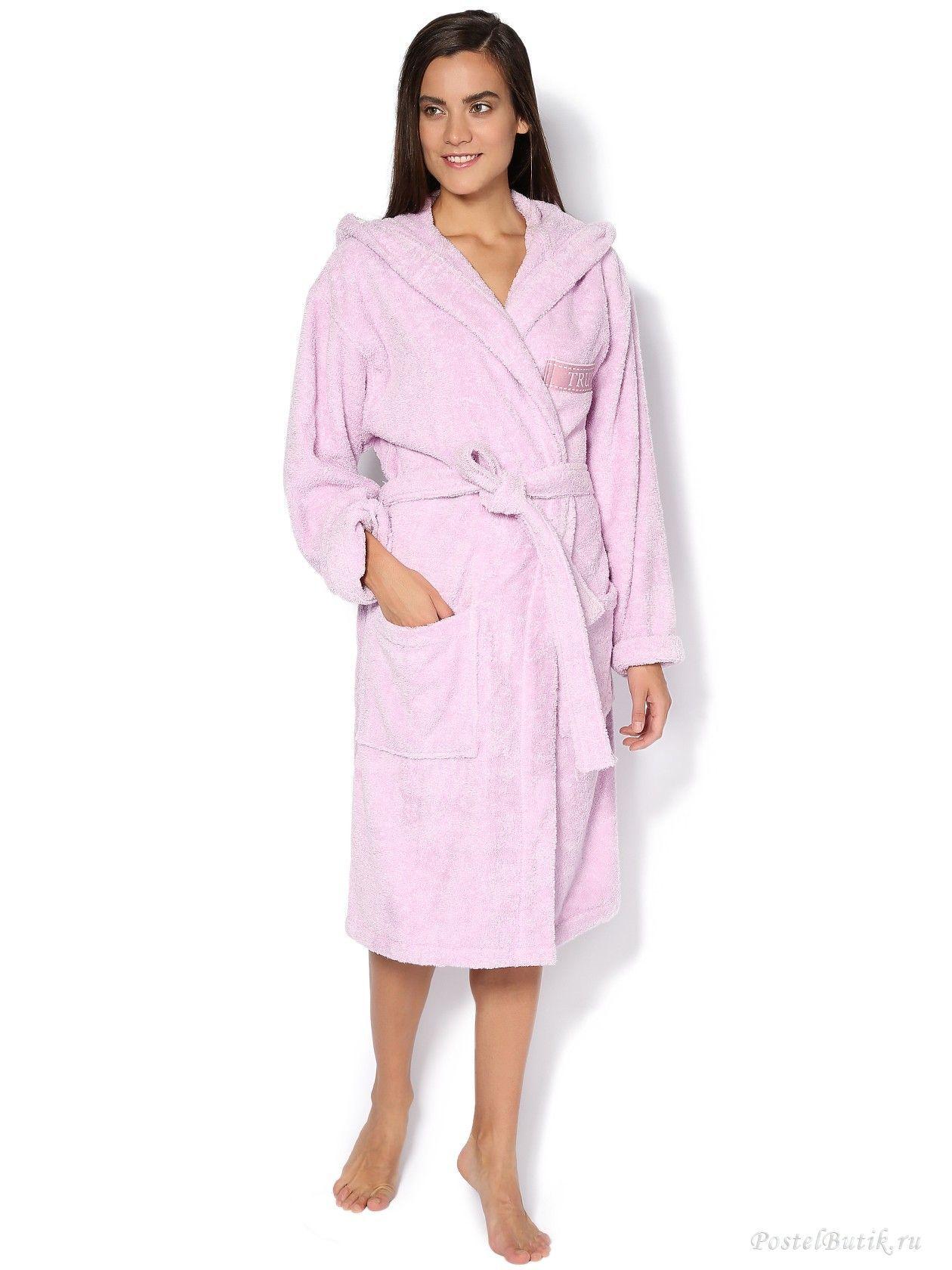 Халаты Халат махровый Trussardi Golf розовый elitniy-halat-golf-rozoviy-ot-trussardi-italiya.jpg