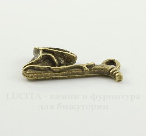 """Подвеска """"Саксофон"""" 21х11 мм (цвет - античная бронза)"""