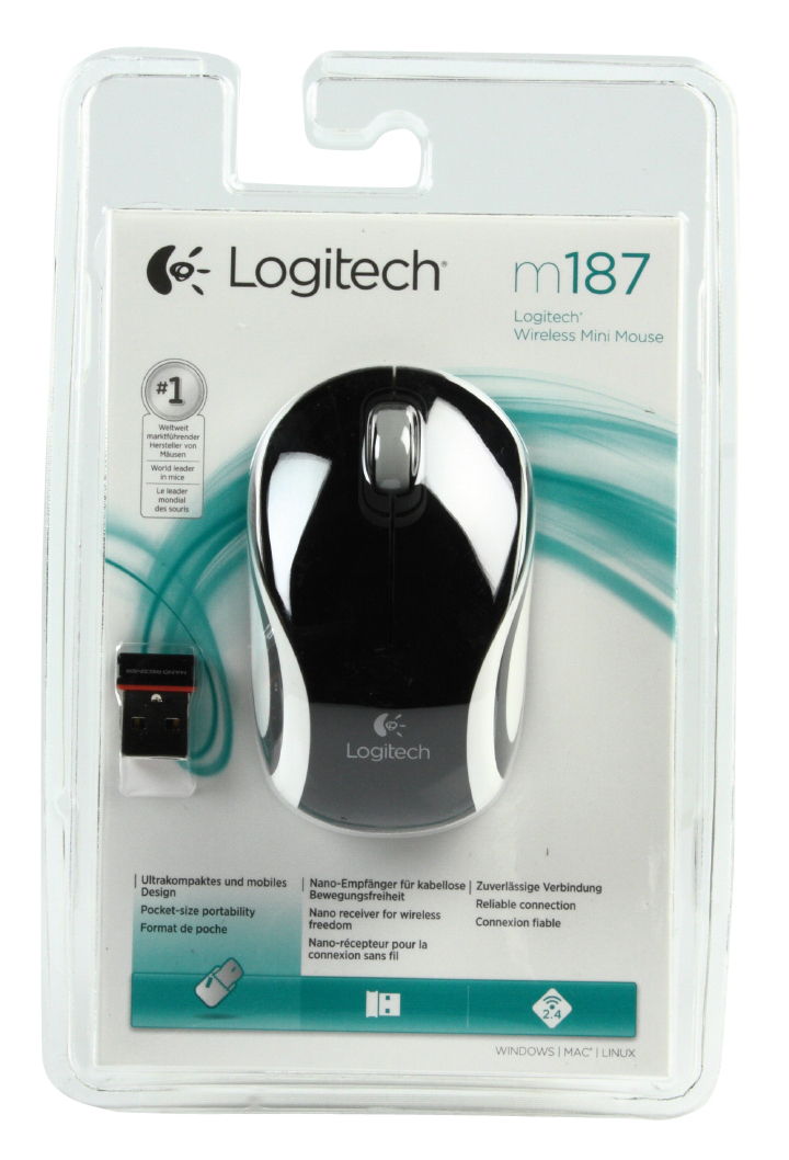 LOGITECH M187 Wireless Mini White
