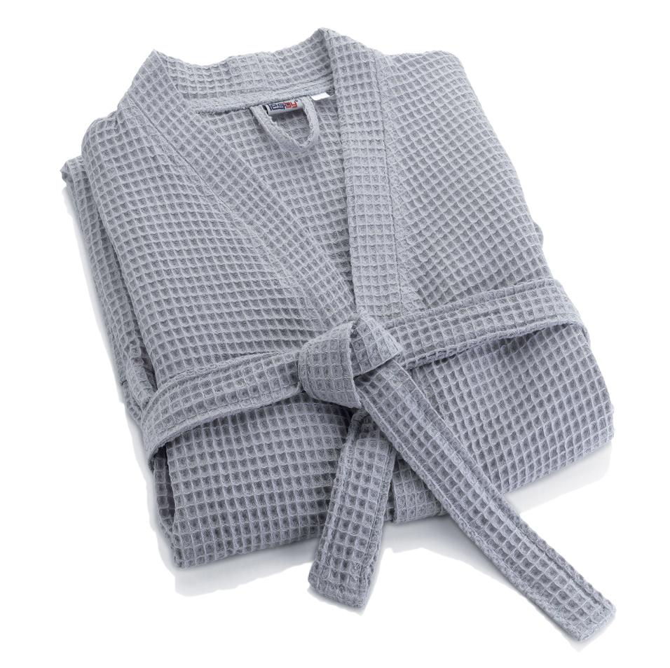 Элитный халат вафельный Nido d'Ape серый от Mirabello