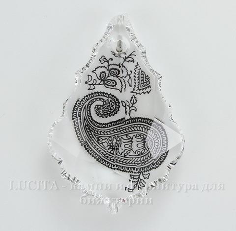 6091 Подвеска Сваровски Flat Baroque Paisly Print (38 мм)