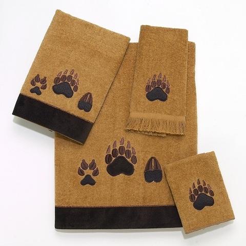 Полотенце 41х76 Avanti Paw Prints коричневое