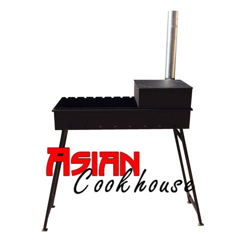 Мангал с печью для казана 90 см